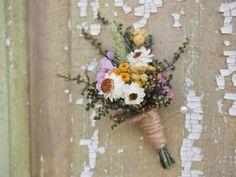 Our Field Flower, Dried Flower Boutonniere, Corsage, Groom and Groomsmen Pin, Country Weddings Purple Wedding Bouquets, Bridesmaid Flowers, Flower Bouquet Wedding, Dried Flower Bouquet, Dried Flowers, Flower Bouquets, Rustic Boutonniere, Wedding Boutonniere, Alaskan Wedding