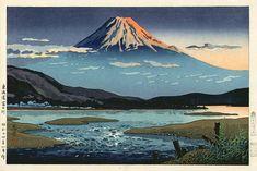 hanga gallery . . . torii gallery: Tokaido Fujikawa by Tsuchiya Koitsu