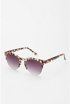 Rimless Animal Print Sunglasses