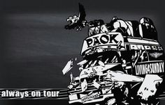 PAOK | always on tour Football And Basketball, Old School, Darth Vader, Tours, Fictional Characters, Fantasy Characters