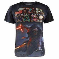 Star Wars T-Shirt Kylo Ren Star Wars fun merchandise and things http://funstarwars.com/shop/star-wars-t-shirts/star-wars-t-shirt-kylo-ren/ 23.35 Material:Polyester