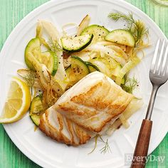 Panfried Cod with Fennel & Squash