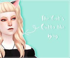 Lana CC Finds - toskami:     CONTAINS:   Cat ears   Cat tail  ...