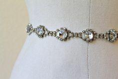 Hey, I found this really awesome Etsy listing at https://www.etsy.com/listing/153890728/bridal-vintage-rhinestone-jewel-sash