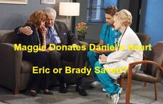"""Days of Our Lives"""" spoilers reveal that Maggie (Suzanne Rogers) will be crushed when a tragic accident kills her son. Daniel (Shawn Christian) will essentially be gone, but his heart could still give life to another victim. DOOL's weekly preview video shows Brady (Eric Martsolf) and Eric (Greg Vaughan) in a desperate fight for survival."""