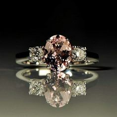 A new morganite and diamond ring just made by Christine Sadler. www.christinesadler.com