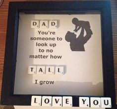 Father's Day scrabble frame by Hannahsbaskets on Etsy