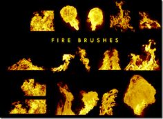 400 Real Fire Photoshop Brushes Free Download