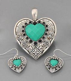 Y-Turquoise Heart Pendant