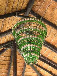"Cool chandelier at our hotel ""Planet Baobob"" in Gweta, Madagascar"