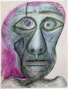 Self Portrait - Pablo Picasso, June 30th, 1972 Cueva de lienzo