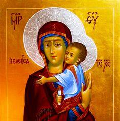 Theotokos icon with intense gaze - rare!