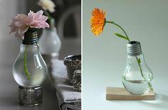 idée ampoule recyclage brico déco originale fleurs idée ampoules recyclage