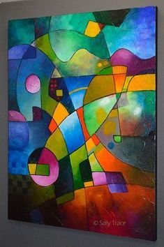 "Das Wandbild /""Rainbow Colors/"" 100/% handgemaltes Bild"