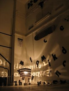 projection of letters, creating shadow Museum Quotes, Light And Shadow Photography, Projection Mapping, Shadow Play, Expositions, Theater, Light Project, Design Art, Graphic Design
