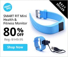 SMART FIT Mini + 1Free Band a Fitness and Health Monitor Watch with 2016 Upgrades from Opensky for $24.99. - http://www.couponoutlaws.com/smart-fit-mini-1free-band-a-fitness-and-health-monitor-watch-with-2016-upgrades-from-opensky-for-24-99/