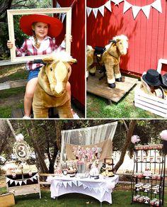 Shabby Chic Vintage Pony Birthday Party