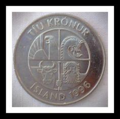 dragon Eagle giant Iceland 2006-10 Kronur Nickel Plated Steel Coin bull