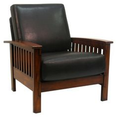Mission Faux  Chair - Leather