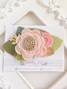 Blush Felt Flower Crown Headband Mini. Newborn Rose Quartz Floral Crown. Wedding…