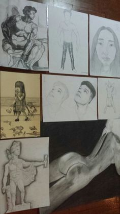 My works from my freehand drawing class  ~http://falquenpunch.tumblr.com/