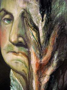 Valerie Hegarty - George Washington Melted 4 (the picture of Dorian Gray) George Washington, Washington Art, Dorian Gray Painting, Melting Face, Face Distortion, Gray Aesthetic, Makeup Aesthetic, Abstract Face Art, Art Alevel