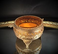 A personal favorite from my Etsy shop https://www.etsy.com/listing/232392612/antique-amber-tinted-beveled-glass