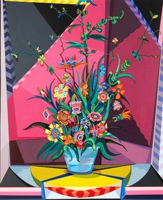 """Erik Parker's """"Late Bloomer"""" is part of the """"AftermodernisM"""" exhibit at the Nassau County Museum of Art, Roslyn Harbor.   Credit Nassau County Museum of Art Tom Powel Imaging Inc."""