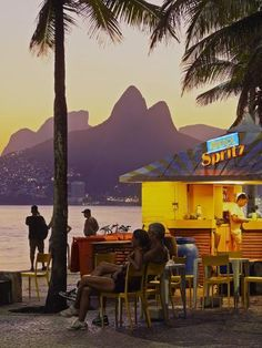 Hahnemuhle PHOTO RAG Fine Art Paper (other products available) - Brazil, City of Rio de Janeiro, Beach Bar at the Ipanema Beach with a view of the Morro Dois Irmaos. - Image supplied by AWL Images - Fine Art Print on Paper made in the UK Brazil Cities, Brazil Beaches, Wallpaper Aesthetic, Beautiful Places To Travel, Romantic Travel, Beach Bars, Travel Images, Aesthetic Vintage, Dream Vacations