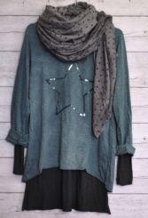 Camiseta estrella lentejuelas verde | Tienda online The Amity Company