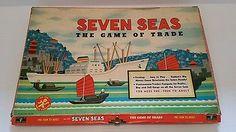 1960 Seven Seas Board Game of Trade by Cadaco in orig, box Vintage