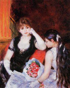 RENOIR Auguste,1880 - At Concert in Box Opera : « Je méprise tous les peintres vivants, sauf Monet et Renoir […]. Il faut avoir quelque chose dans le ventre, et il n'y a que le travail ensuite. » (CEZANNE à Joachim Gasquet, Aix, 8 juillet 1902)