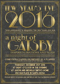 image result for great gatsby new yr eve party invitation new years eve party themes