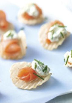Smoked Salmon Chips -- In just 10 minutes, this delicious appetizer can be party-prepped. For best flavor, prepare cream cheese mixture ahead of time.