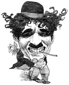 A strange but compelling portrayal of Chaplin Chaplin as seen in City Lights (1931). By David Levine. Brenton Film silent