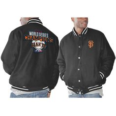 San Francisco Giants 2014 World Series Champions Commemorative Wool Jacket - Black - $94.04