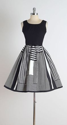 De Stijl . vintage 1950s dress . vintage by millstreetvintage