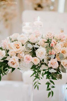 An Elegant Timeless Blush & Rose Gold Wedding - Modern Peach Wedding Centerpieces, Peach Wedding Theme, Rose Gold Theme, Wedding Flowers, Dream Wedding, Wedding Bouquets, Pale Pink Weddings, Orange Weddings, Gold Weddings