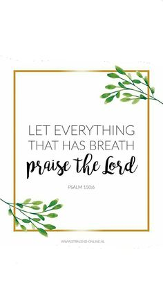 Let everythig that has breathe praise the Lord // christian quote // Biblequote // Bibleverse
