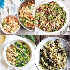 Make a healthy salad even more filling by adding filling grains! From wild rice and quinoa to farro, these salads have serious heart-healthy benefits. Add lots of vegetables such as kale and cabbage. These are great lunch recipes! Clean Eating Recipes, Lunch Recipes, Salad Recipes, Healthy Eating, Stay Healthy, Healthy Habits, Healthy Food, Healthy Chicken Recipes, Vegetable Recipes