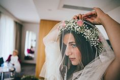 An Edwardian Inspired Gown and Floral Crown for a Relaxed City Wedding | Love My Dress® UK Wedding Blog