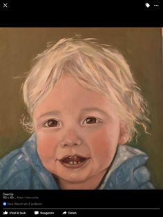 ' Little boy '  50 x 70 Oil Painting