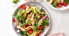 30 minutes is all you need to make this healthy, Thai chicken salad.