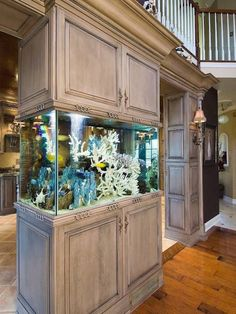 The fish tank will certainly make you obtaining relaxed and soothed doing your cooking task. Searching for the aquarium kitchen concepts? Inspect these out for your Aquarium Kitchen Ideas for A Breathtaking KitchenLivHozz Diy Aquarium, Aquarium Design, Aquarium Stand, Aquarium Fish Tank, Aquarium In Wall, Aquarium Setup, Fish Tank Wall, Glass Fish Tanks, Cool Fish Tanks