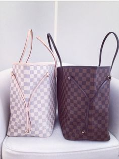 louis vuitton the white with either pink/silver or blue/silver monogrammed
