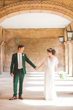 Azalea by Jenny Packham and a Delicate Floral Crown for a Bohemian Meets Edwardian Style Wedding At Emmanuel College, Cambridge