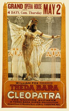 'Cleopatra' starring Theda Bara, (1917) promotional poster