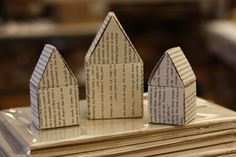 paper houses by Ladybumblebee