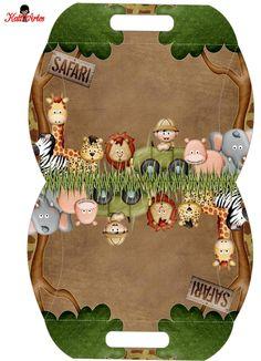 Home Remodel Videos Jungle Theme Birthday, Safari Theme Party, Jungle Party, Party Themes, Deco Jungle, Paper Box Template, Safari Adventure, Party In A Box, Pillow Box