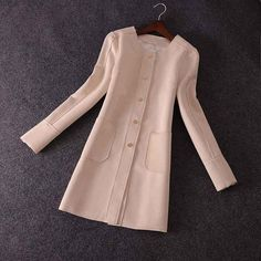 CLUXERCER Brand Trench Coat For Women Suede Coat Casual O-neck Leather Suede Trench Coat Women Outerwear Ladies Trench Coat